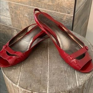 Cole Haan Slingback Red Patent shoe - 9.5